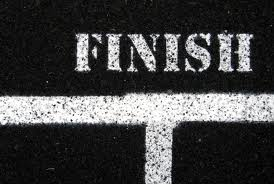 finish (on track)